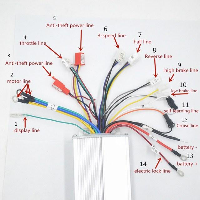 48 V 60 V 64 V 1000 W ebike בקר תיבת עם הפוך עבור אופניים חשמליים/קטנוע/אופנוע bldc מנוע בקר 1000 W