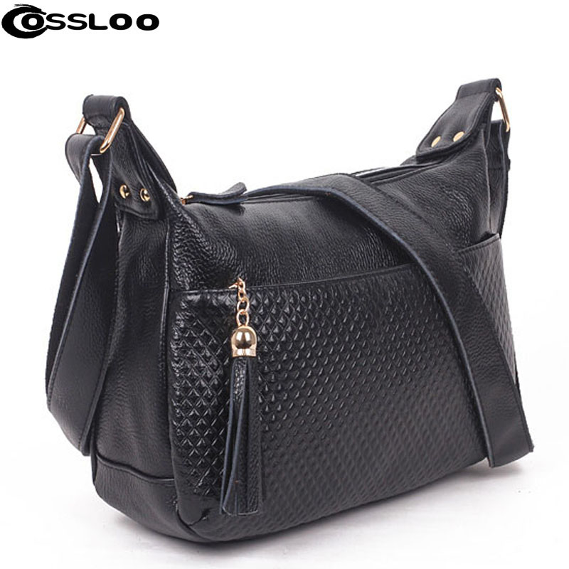 COSSLOO 2018 Hot fashion women's shoulder bags and handbags famous brand women leather bag bolsas female crossbody bag tote women bag female handbags leather shoulder bag crossbody famous brand tote handbag round flower black cute small fashion bags