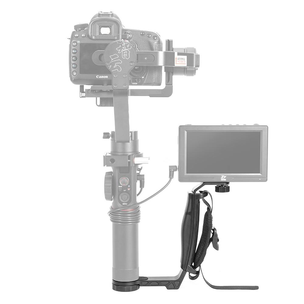 zhi yun Zhiyun Official Crane 2 Gimbal Accessories L Bracket TransMount Mini Dual Grip for LED Light/Microphone/Monitor zhiyun mini dual grip transmount single handle grip l bracket rig 1 4 screw connector for zhiyun crane series gimbal stabilizer