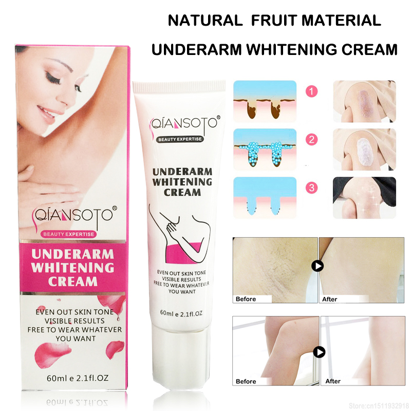 Summer Beach Armpit Whitening Cream Between Legs Knees Private Parts Whitening Formula Armpit Whitener Intimate Body Creams