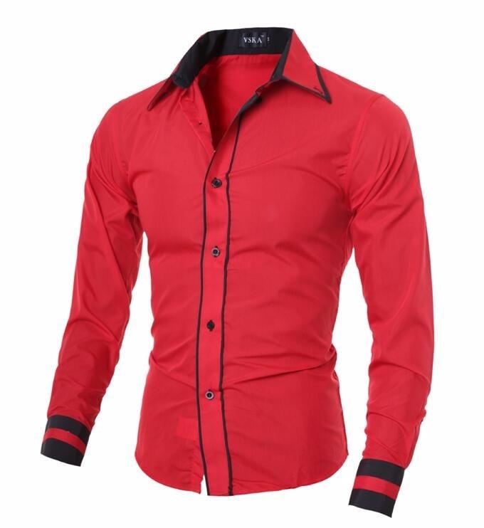 Men Shirt 17 Fashion Brand Men'S Cuff Striped Long-Sleeved Shirt Male Camisa Masculina Casual Slim Chemise Homme XXL SHDWQ 13