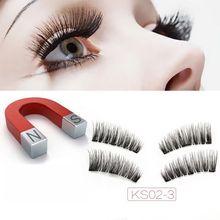Brand New 3 Magnet Eyelashes 6D Magnetic Eyelash Handmade Full Strip False Lashes Natural Gilios Posticos Long Fake Eyelashes цена