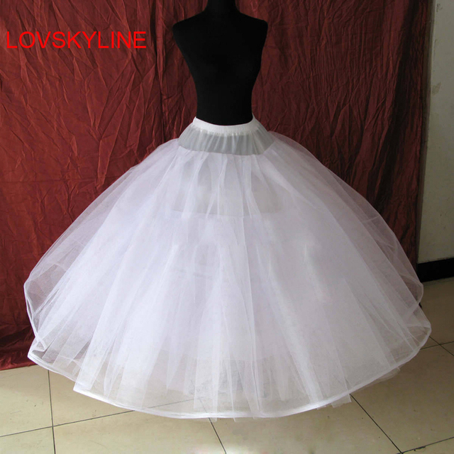 Free Shipping Hot 8 Layers No Hoop Wedding Bridal Gown Dress Petticoat Underskirt Crinoline