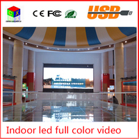 P4 indoor RGB full Color led video wall size 512x512mm led large screen display sign background synchronization system
