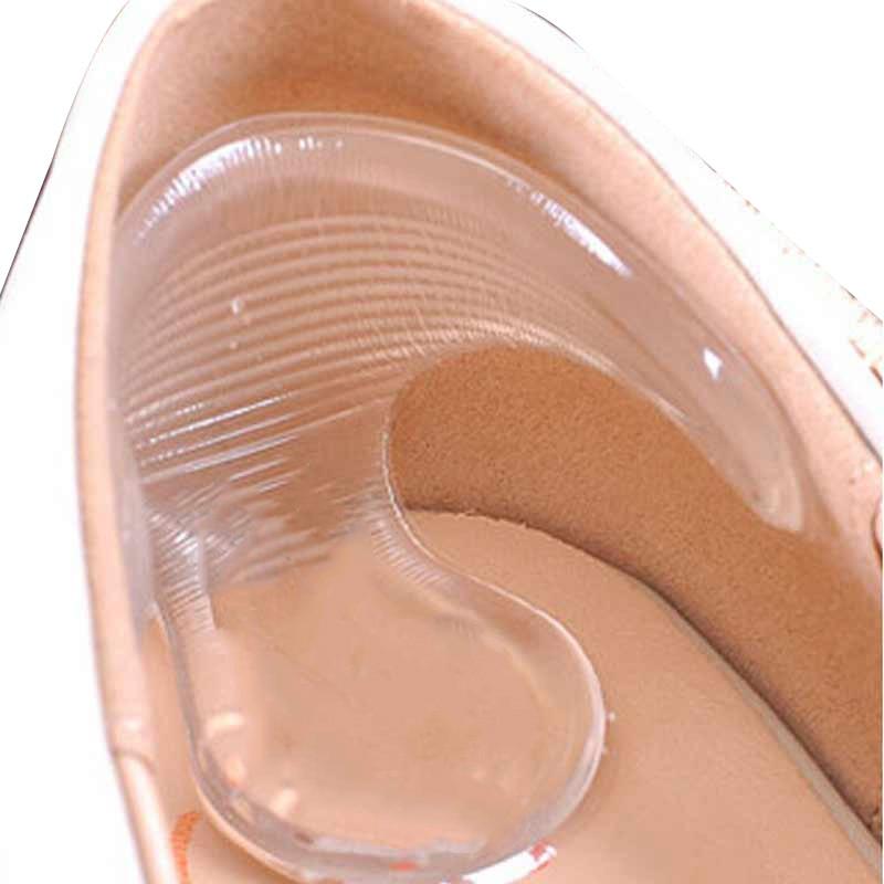 1 pair منصات هلام للأقدام سيليكون منصات للأحذية لينة هلام النعال عالية الكعب حامي نعل لتخفيف الآلام سيليكون نعل ملصقات