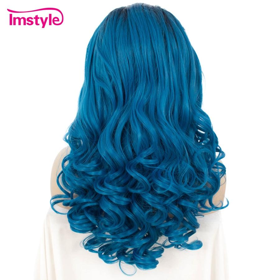Imstyle Wave Syntetisk svartrot och blått hår 24 inches Spetsar - Syntetiskt hår - Foto 2