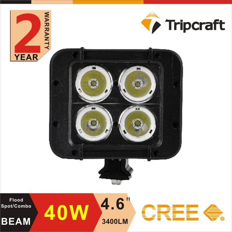 ФОТО HOT SALE! Offroad ramp lamp,2PCS 4.6 inch Dual Row Led Offroad Light Bar 40w tractor ramp light bar with high low beam function