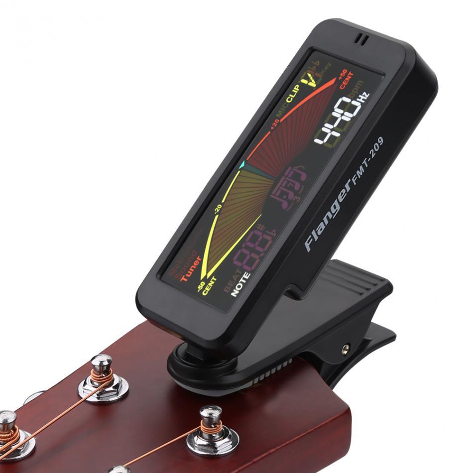 buy flanger fmt 209 guitar tuner digital clip on guitar tuner with clip mount. Black Bedroom Furniture Sets. Home Design Ideas