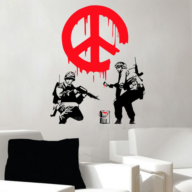 GY22 BANKSY CND Soldier Paint Warn Firemen Street Art Vinyl Wall Sticker Decal Graffiti Boy Personalise & GY22 BANKSY CND Soldier Paint Warn Firemen Street Art Vinyl Wall ...