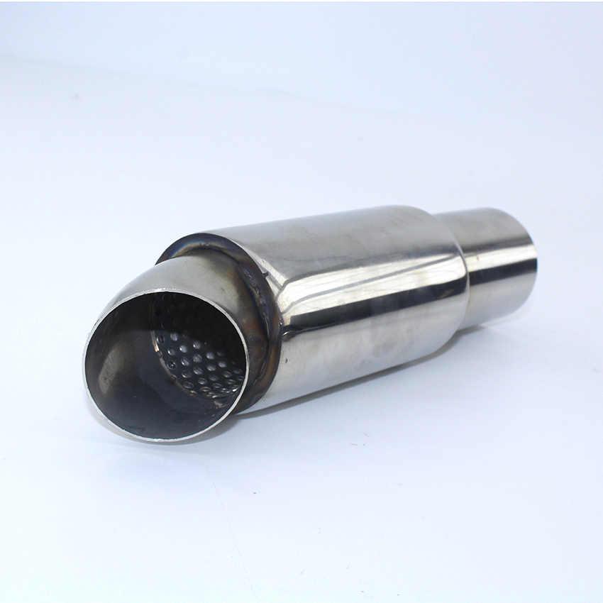 Turbo Fischio Silenziatore Di Scarico Per Auto Tubo In Lega Di Alluminio Suono Terminale Di Scarico Valvola Di Scarico Simulatore Universale Per Auto Modificato Silver L