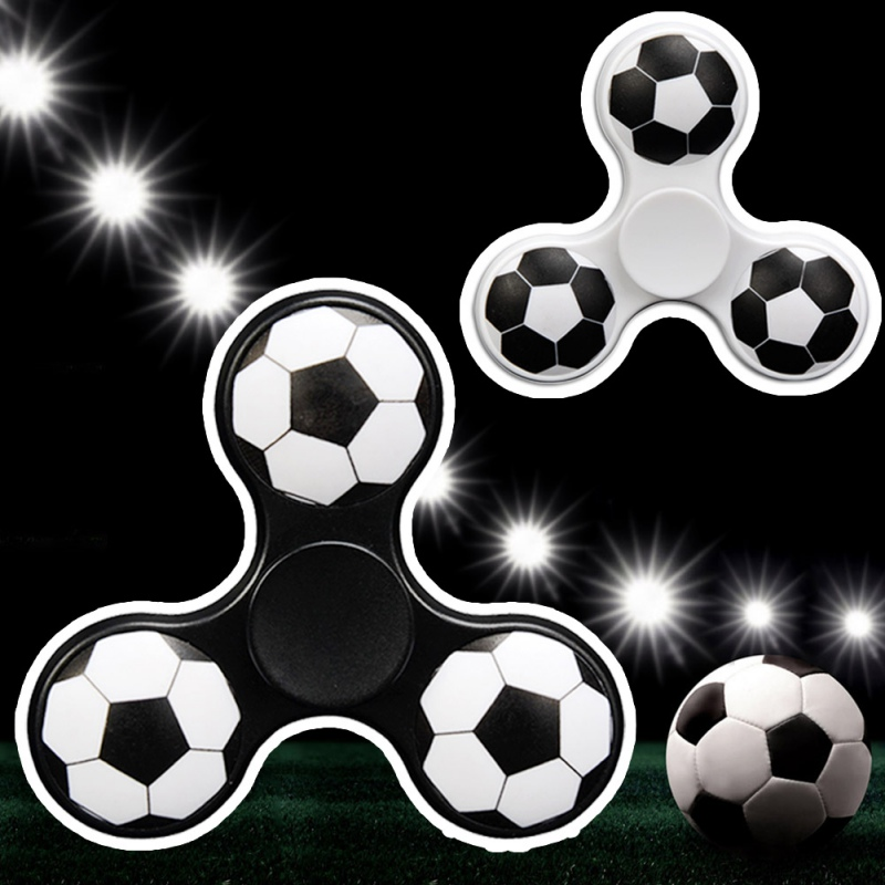 2017 Three Triangle Foot Ball Hand Spinner Focus Gyro Toys Finger Spinner...