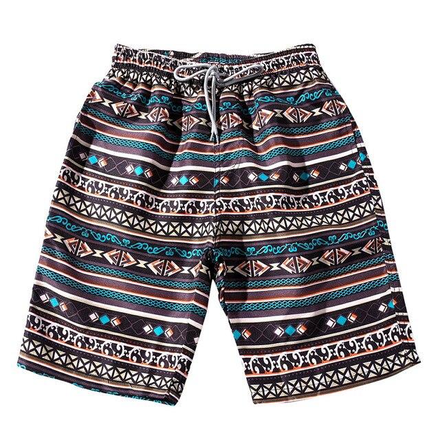 ISHOWTIENDA Verão Casual Shorts Homens Calças Flores Impressão de Moda Masculina Em Linha Reta Curta # W35