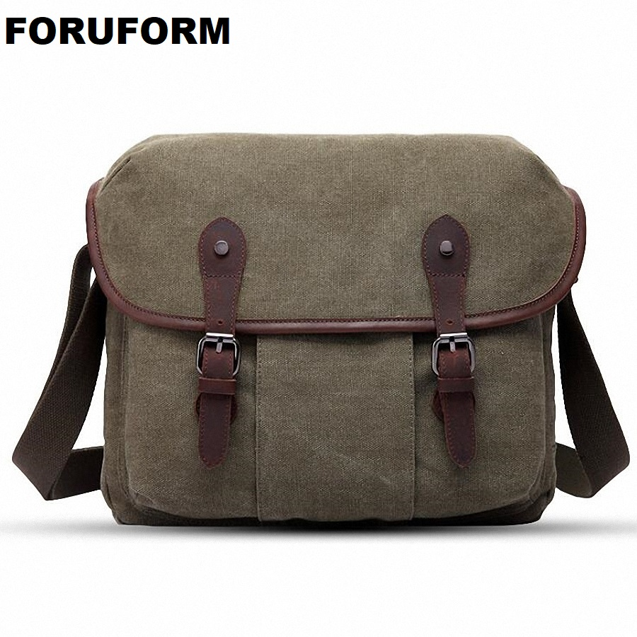2018 Men Canvas Messenger Bags Designer Brand Vintage Crossbody Bags Laptop Bags Military Handbags Satchel Shoulder Bags LI-2058 покрывало les gobelins накидка на кресло terrain russe 100х130 см