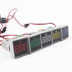 22mm ac 60-500 v 0-100a led voltímetro medidor de tensão indicador piloto luz vermelho amarelo verde branco azul digital amperímetro