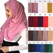 New Women bubble chiffon floral lace scarves shawls hijab plain long headband fashion scarf wraps muslim 1 pc