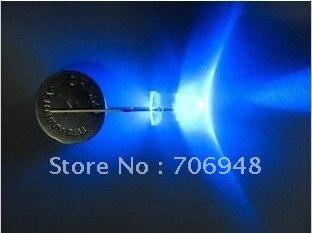 20000mcd 300 шт./лот короткие ноги 3 мм прозрачный синий светодиод долгую жизнь хорошего качества