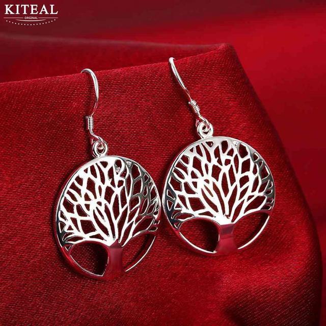6e4121205 Wholesale elegant Silver Tree Of Life drop earrings totem gift wife unique  women earing wedding arbre
