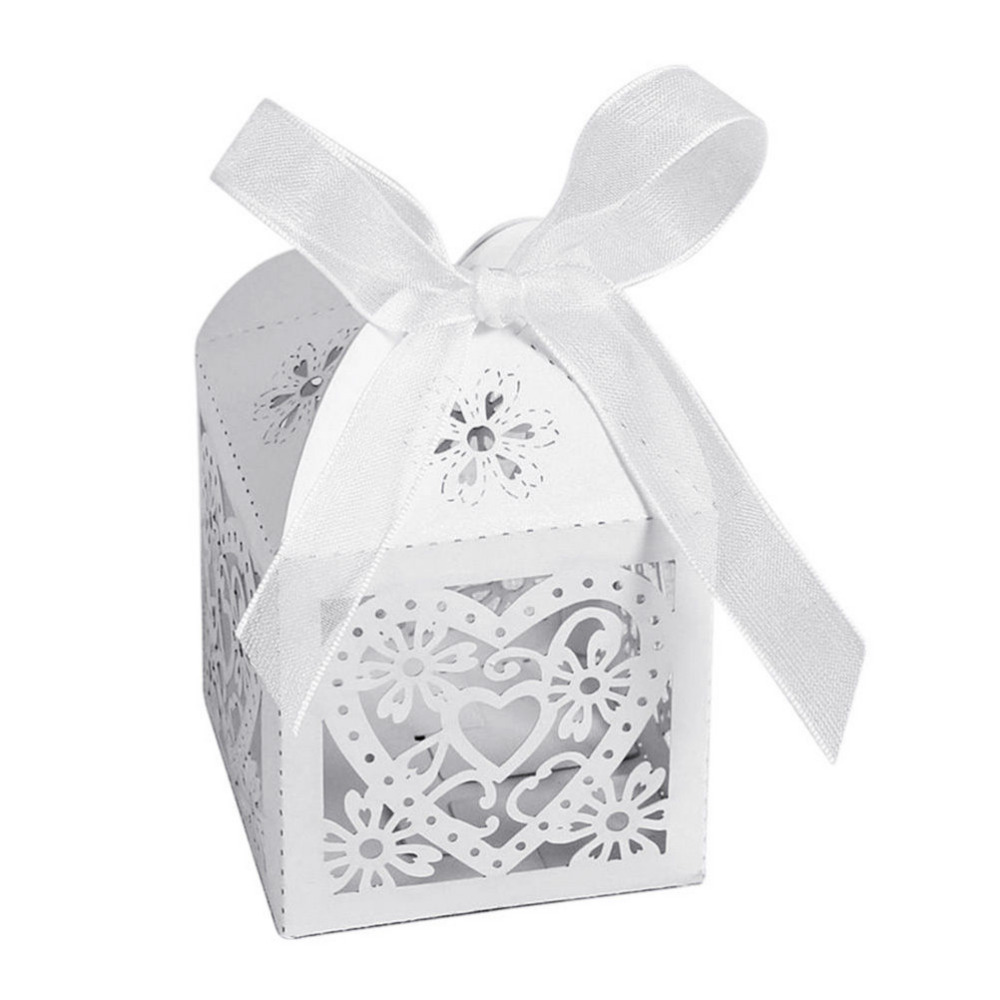 100 Pcs/set Hot Selling Wedding Candy Box Hollow Carriage Love Heart ...