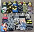 24 шт. = 12 пар НОВЫЕ люди мультфильм смешанный стиль бэтмен супермен джокер США супергерой фильм фильм Вентиляторы мужские Классические носки 24 шт./лот