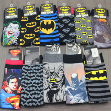 XAXBXC 24pcs 12pair cartoon mixed style batman superman joker USA Socks 24pcs/lot