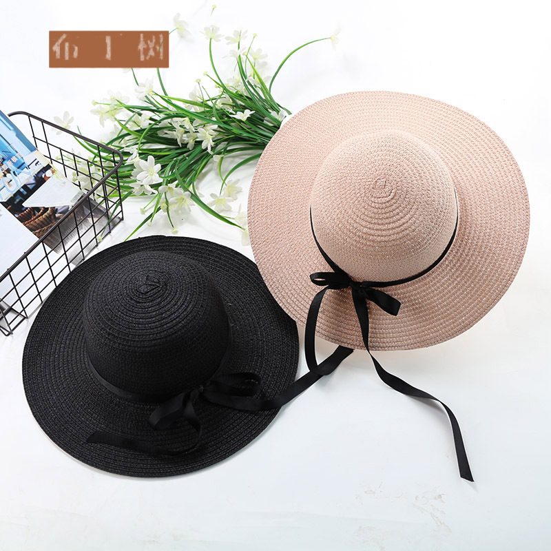 10pcs lot 01804 denwei2044 beach summer solid paper straw kids hat girl boy children Outdoor leisure