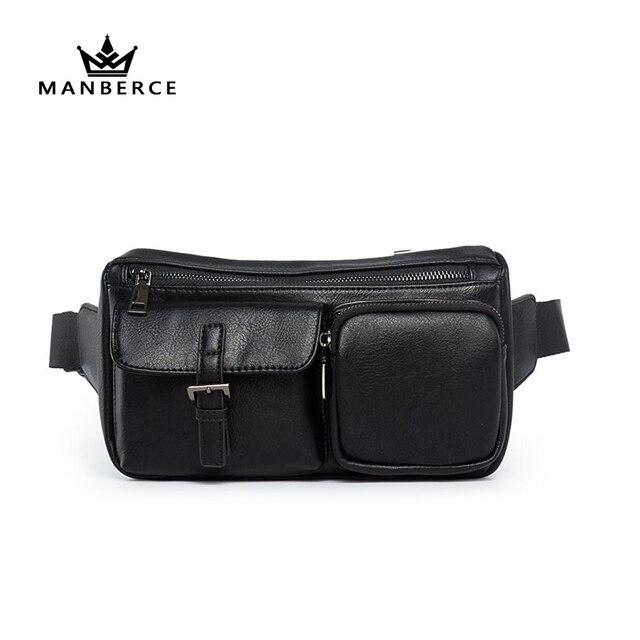 d1b343a687e Fashion New belt leather supreme fanny pack black mens waist bag men  fannypack waist bum bag Phone Pouch Bags men travel bags
