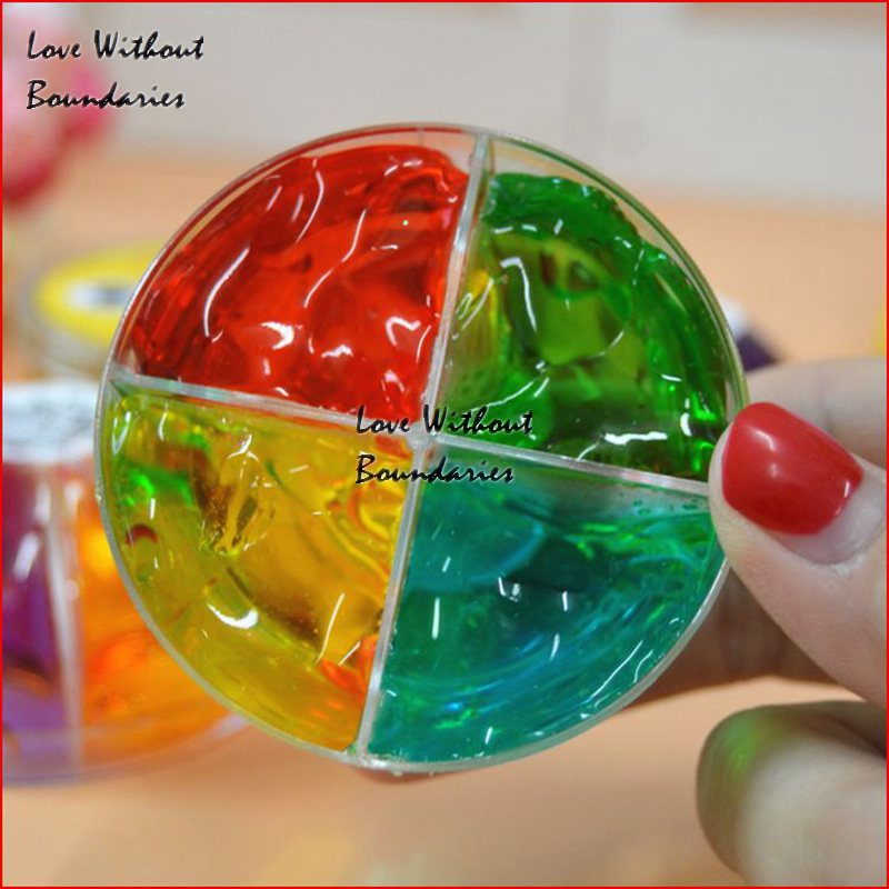 4 color crystal crystal transparent color crystal mud clay mud non-toxic children silly putty safty and health toy