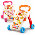 Lion Cartoon Walker Stroller  Multifunctional Baby Music Walker Kids Toddler Stroller Lions Trolley Children Toys 1-3 Years Old