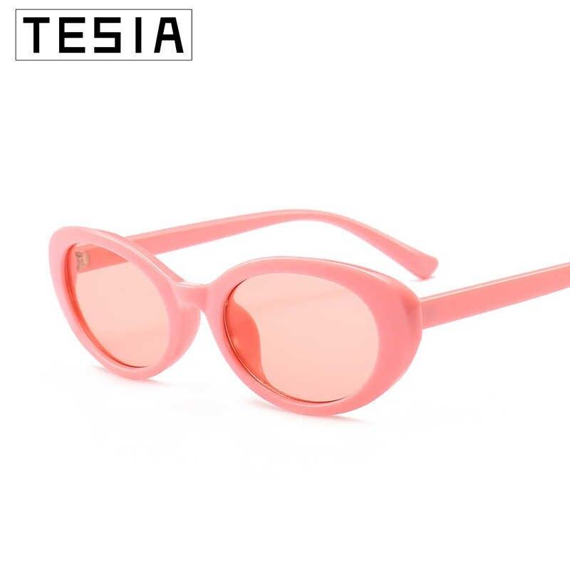 小さなオーバルサングラス女性ピンク赤メガネブランドデザイナー女性 Sunglases ため Zonnebril 婦人 UV 100% Oculos デゾル