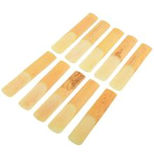 Hot 10Pcs Alto Saxophone Sax Reed Bamboo 2.5 Strength Replacement Repair Useful Music Accessories Professional цена