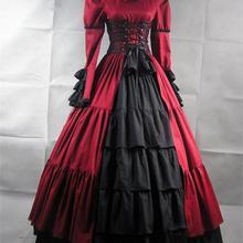 Брендовое Новое голубое/фиолетовое кружевное бальное платье с длинными рукавами в стиле «Civil War»/«Southern Belle», викторианское платье для танцев, вечерние платья
