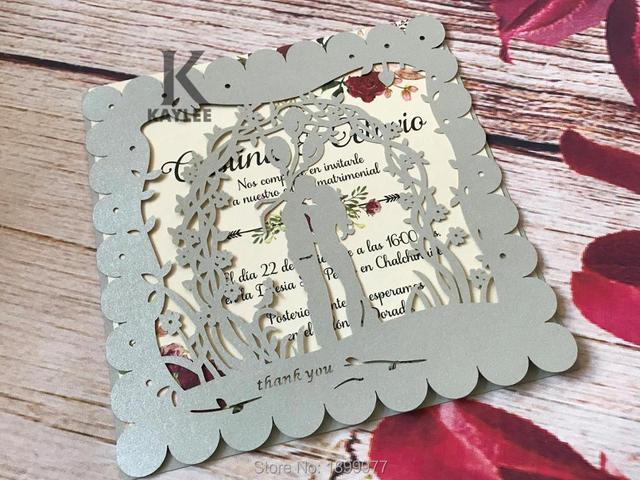 Warm Lover Design Engagement Invitation Cover Decoration Handmade