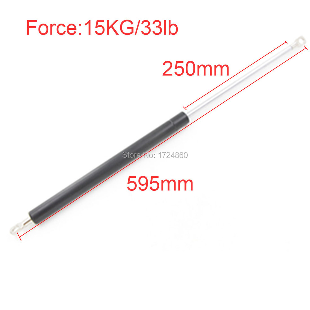 250mm Stroke Auto Gas Spring Damper Ball Gas Strut Shock Spring Lift Prop Automotive M8 15KG/33lb Force Gas Spring 200mm stroke 35kg 77lb force auto gas spring strut damper spring m8 gas springs 480mm gas strut shock lift prop for automotive