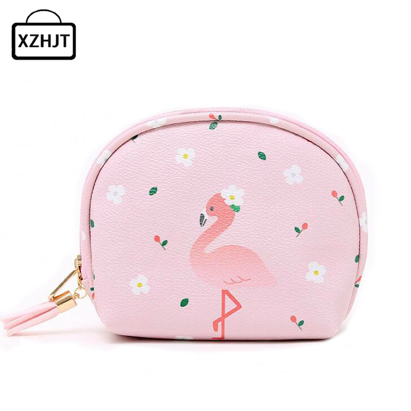Cartoon Flamingo Women Cosmetic Bag Functional Travel Portable Make Up Organizer Zipper Makeup Case Pouch Toiletry Kit Wash Bag msq make up bag pink and portable cosmetic bags for professional makeup artist toiletry case new arrival