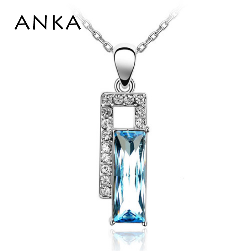 ANKA Necklace Women Collar Wholesale Square Crystal Pendant Fashion Jewellry Main Stone Crystals from Austria #78176