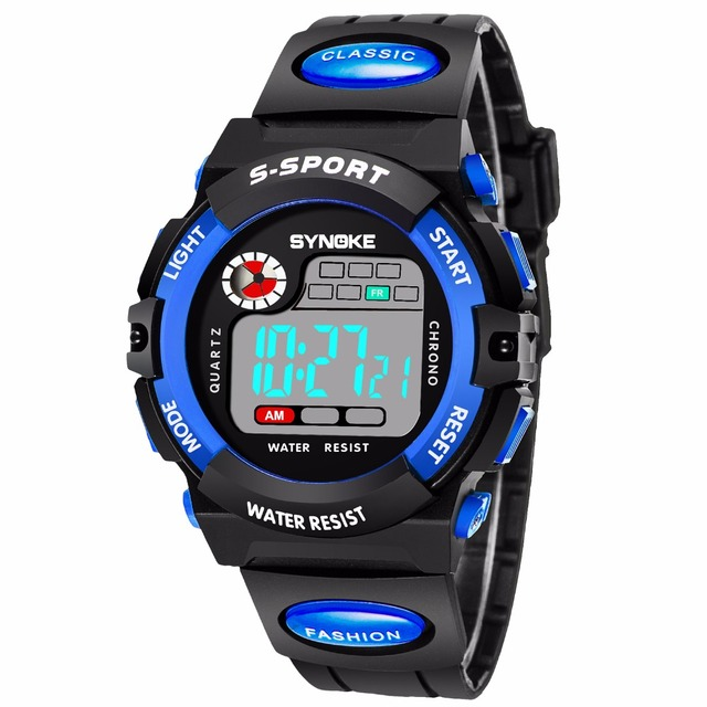 Children LED Digital Sport Watch Kids Watches Boys Girls Students Clock Child El