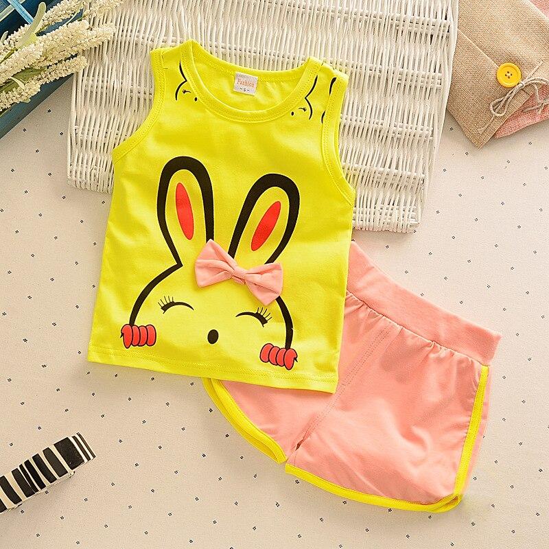 2pcs / lot vaikai mados kūdikių mergaičių drabužių rinkinys - Kūdikių drabužiai - Nuotrauka 5