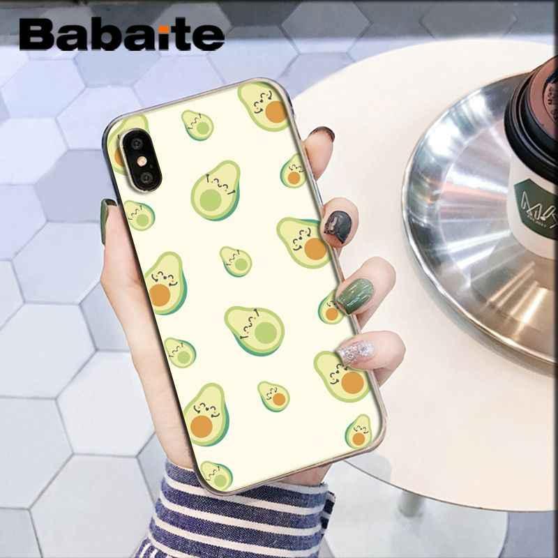 Abacate Babaite DIY Pintado Bonito Acessórios Do Telefone para o Caso do iphone X XS MAX 6 6s 7 7plus 8 8Plus 5 5S SE XR