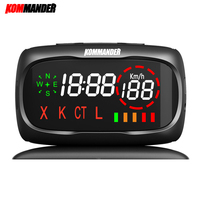 kommander car radar Detector Anti radar Anti Police Speed Camera with GPS 2 in 1 for Russian can Detection X K CT L Bands