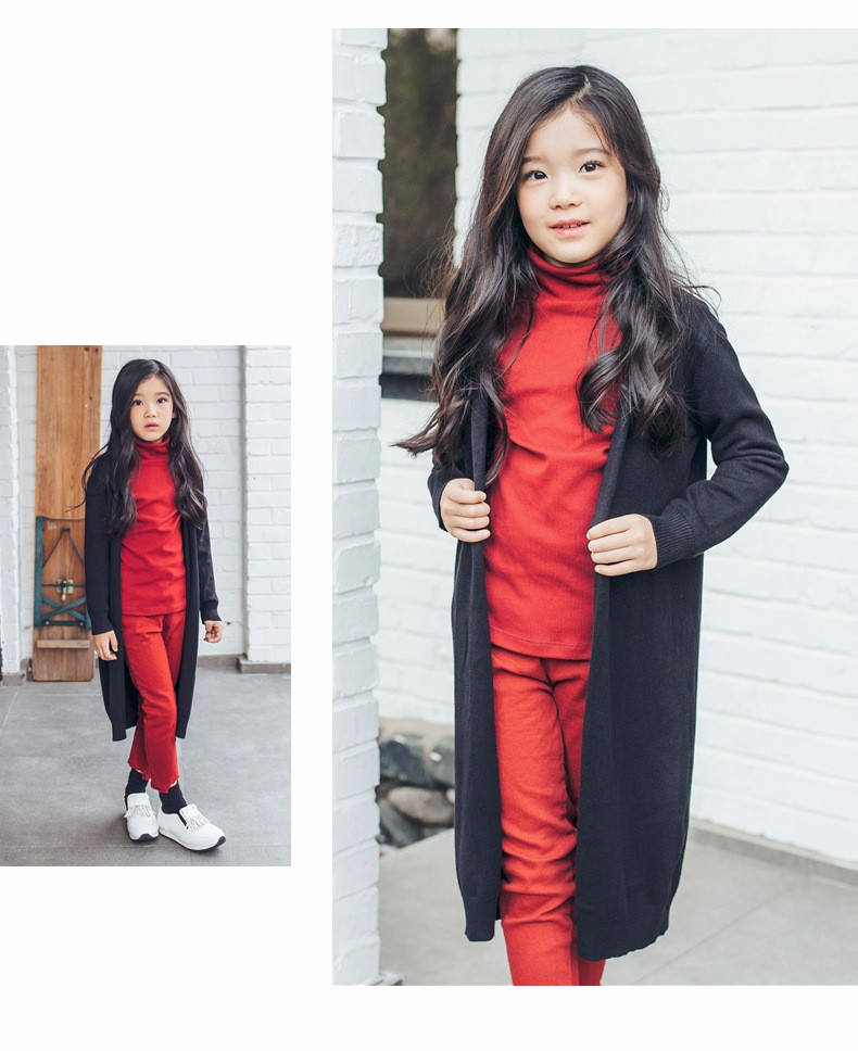2017 new knitted girls cardigan coats spring autumn long knitting baby big girls sweater red gray black long tops knit sweater  2017g 5 6 7 8 9 10 11 12 13 14 15 16 years old little big teenage girls kids cardigan sweaters (17)