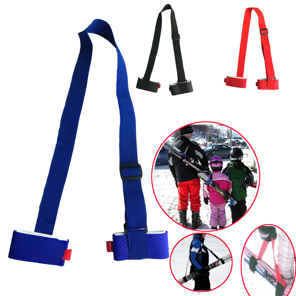 Nylon Adjustable Skiing Pole Shoulder Hand Carrier Lash Handle Straps Hold Porter Hook Loop Protecting Ski Handle Strap Bags