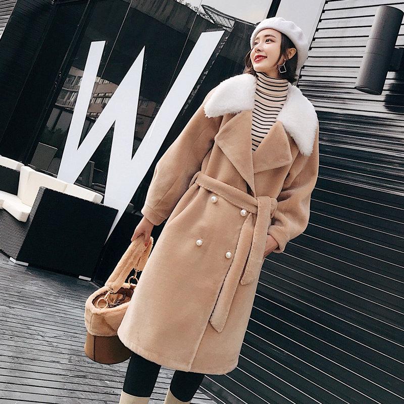 Avec Supérieure Show as Mode Laine Show As Vestes D'hiver Manteau Réel Ceinture Épaisse De Fourrure Qualité Outwear Veste 2018 Chaud Mouton Femmes 7AqRd7