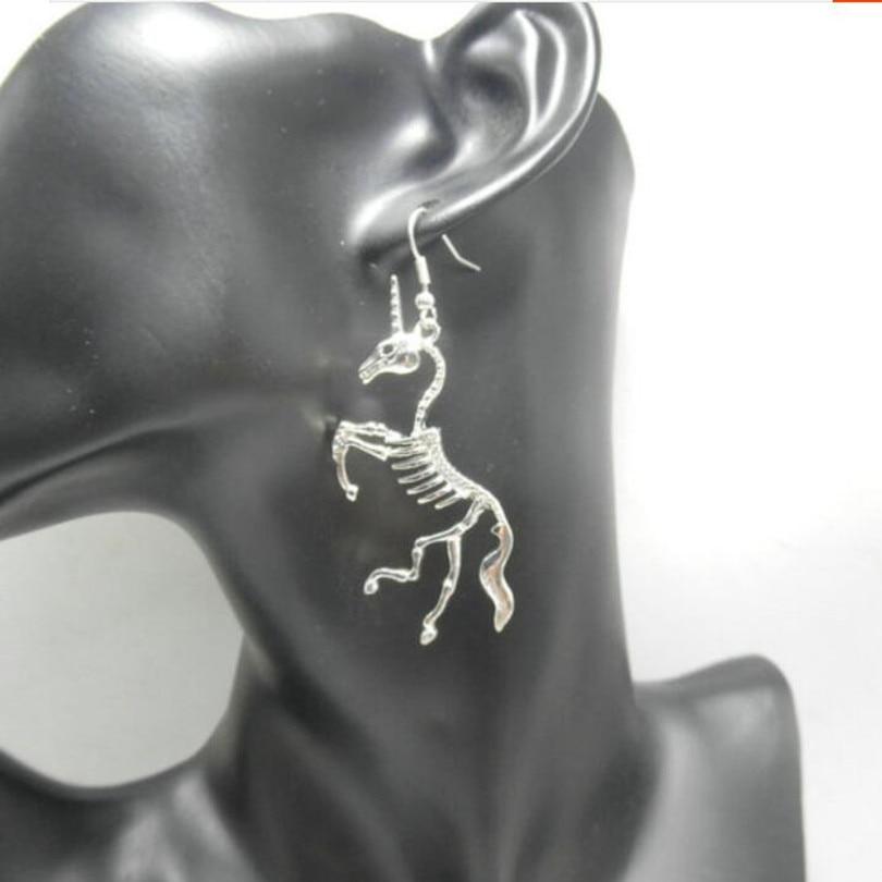 New Unicorn Earrings Unicorn Skeleton Drop Earrings