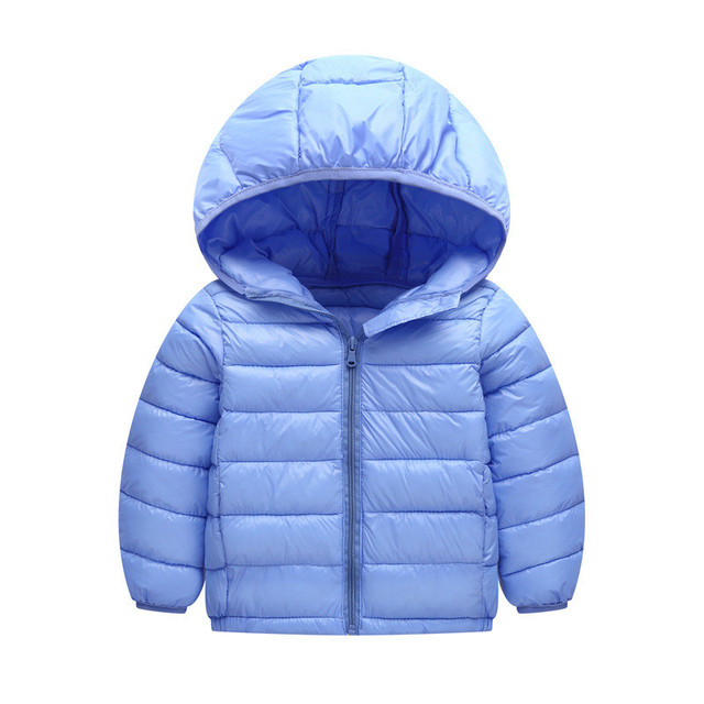 576767afe 2018 Spring Autumn Winter Children Boys Girls Hooded Coat Kids Jacket  Parkas Baby Clothes Lightweight Down