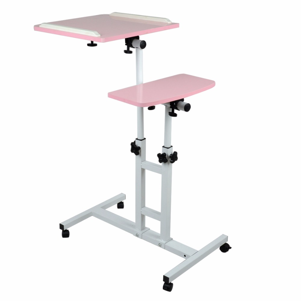 Shellhard Portable Adjustable Laptop Desk Stand Lap Bed Sofa Tray Computer Table Stand Tray Home Furniture Pink aluminum alloy adjustable laptop desk lapdesks computer table stand notebook with cooling fan mouse board for bed sofa tray