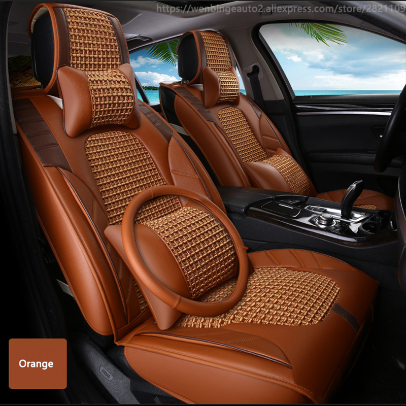 High quality Leather car seat cover for Skoda Octavia Fabia Superb Rapid Yeti Spaceback Joyste automobiles accessories styling
