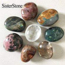 New quartz crystal palm stones and minerals reiki healing Madagascar gemstone tumble stone as gift