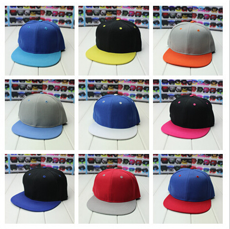c82fda21a7ecf 2 Tone Blank Plain Snapback Hats Adjustable Bboy Baseball Cap Unisex Mix  Color Mix Order Free Shipping 001