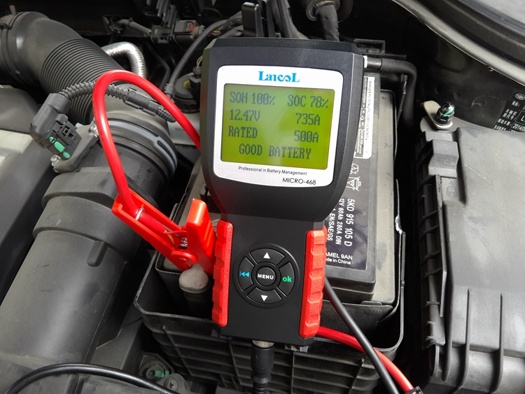 Lancol MICRO 468 Multi language Diagnostic Tool Car Battery System Tester For 12v System For SOH