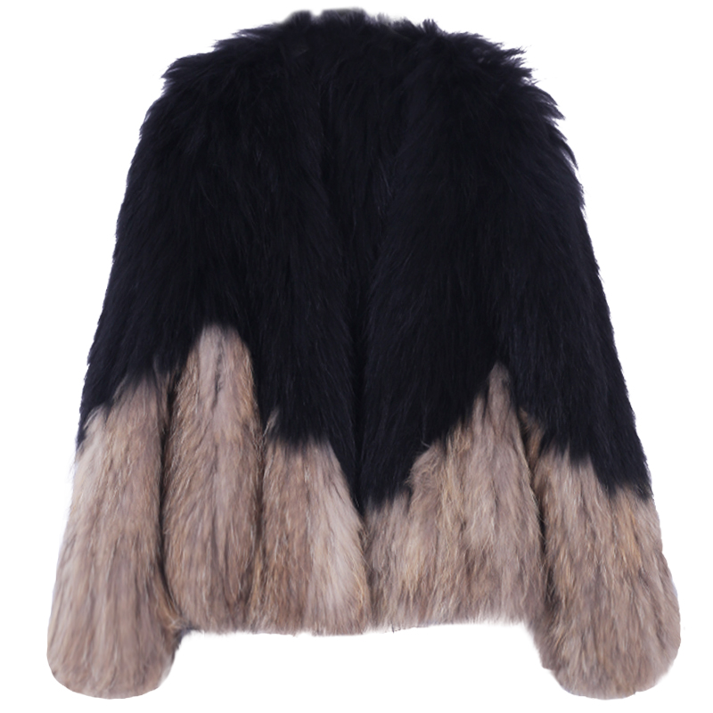 2018 Knitted Handmade Natural True Raccoon Fur Coat Factory Direct Sale Low Discount High Quality Plus Big Size